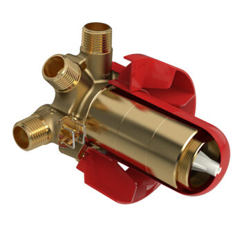 Riobel R95 - 3-way Type T/P coaxial valve rough without cartridge