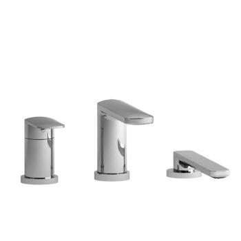Riobel TEV16C - 3-piece Type P deck-mount tub filler with hand shower trim