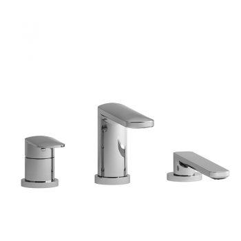Riobel TEV10C - 3-piece deck-mount tub filler with hand shower trim