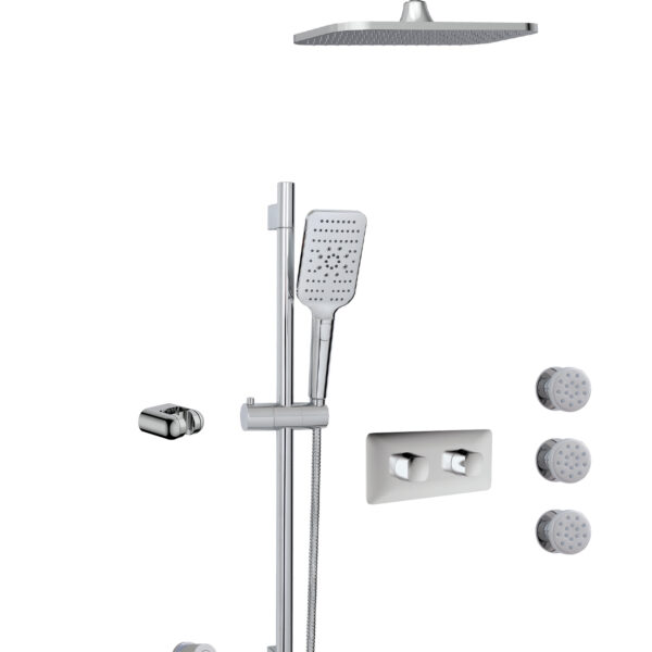 Aquabrass INABOX03-PC - 3 Way Shower System in Polished Chrome