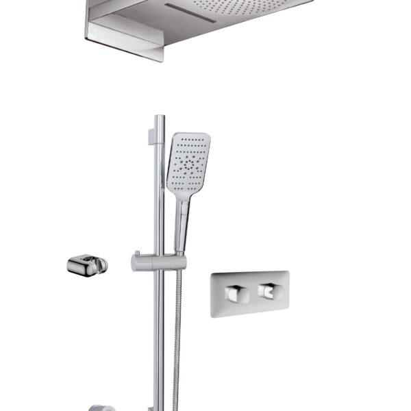 Aquabrass INABOX04-EBK - 3 Way Shower System in Electro Black