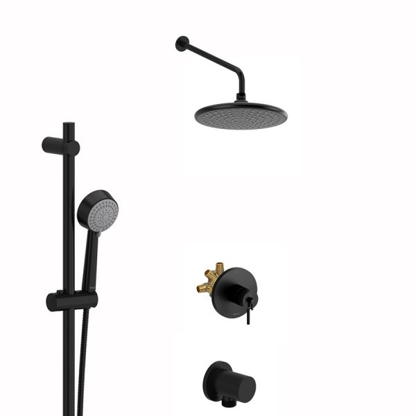 Riobel R93 + P5002BK + P428BK + P503BK + P775BK + TCO93BK - Shower Kit (Black)
