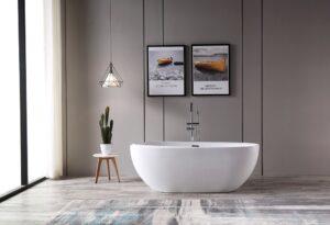 "BAGNO ITALIA Cosmo-67- FreeStanding Bath Tub 67"" x 32"" x 27"""