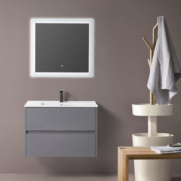"""BAGNO ITALIA EURO-24 GRY - Vanity 24"""" with Porcelain Top"""