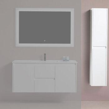 BAGNO ITALIA EURO-12-Linen WHT – Side Linen Cabinet 12″