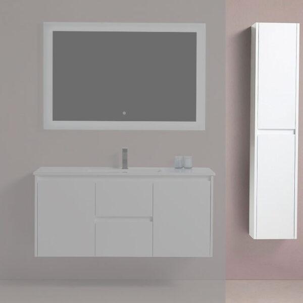 """BAGNO ITALIA EURO-12-Linen BLU - Side Linen Cabinet 12"""""""