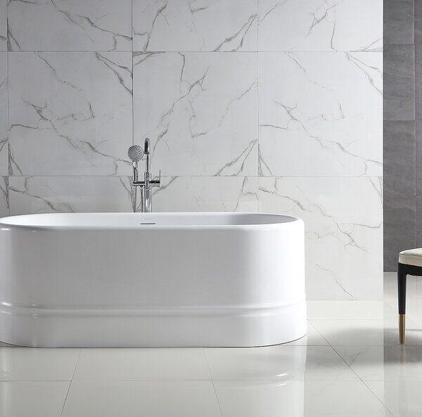 "Bagno Italia Diamond 67 Freestanding Bath Tub 67"" x 32"" x 24"""