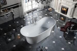 "Bagno Italia Hudson 71 Freestanding Bath Tub 71"" x 32"" x 27"""