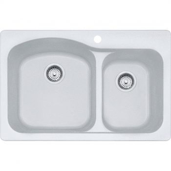Franke Gravity Dual Mount Kitchen Sink - DIG62F91-WHT-CA