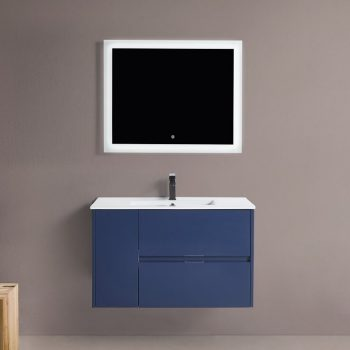 "BAGNO ITALIA EURO-36 BLU - Vanity 36"" with Porcelain Top"