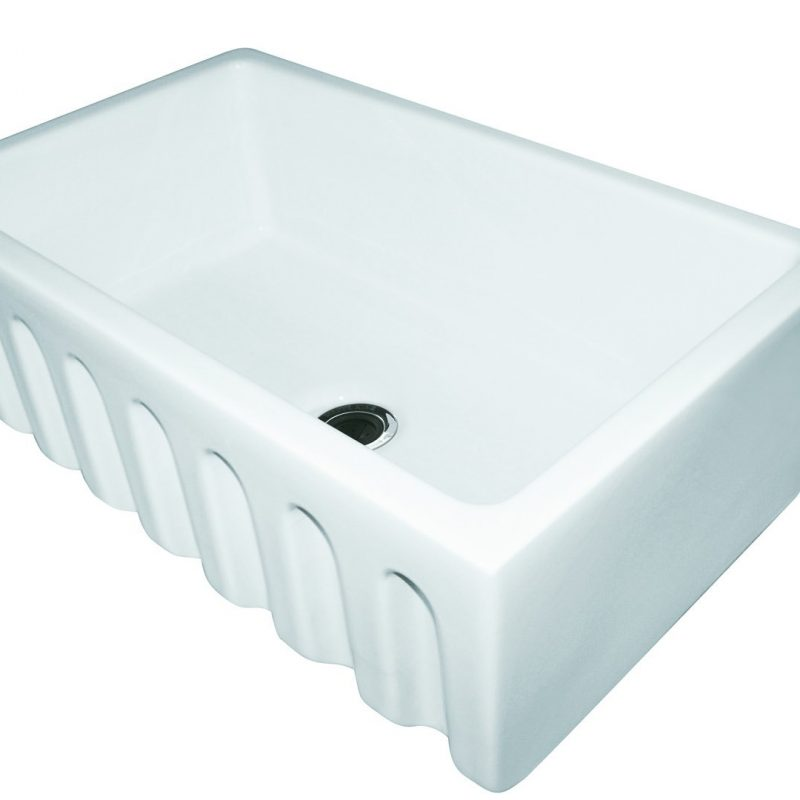 Franke Farm House Fireclay Undermount Kitchen Sink - FH2K110-30WH