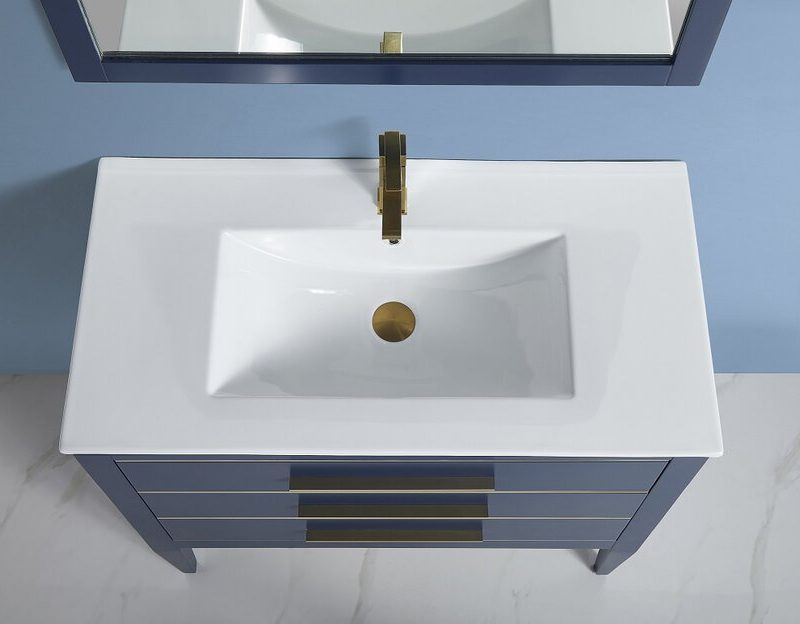 "BAGNO ITALIA EURO-30 GRY - Vanity 30"" with Porcelain Top"