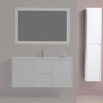 BAGNO ITALIA EURO-12-Linen GRY – Side Linen Cabinet 12″