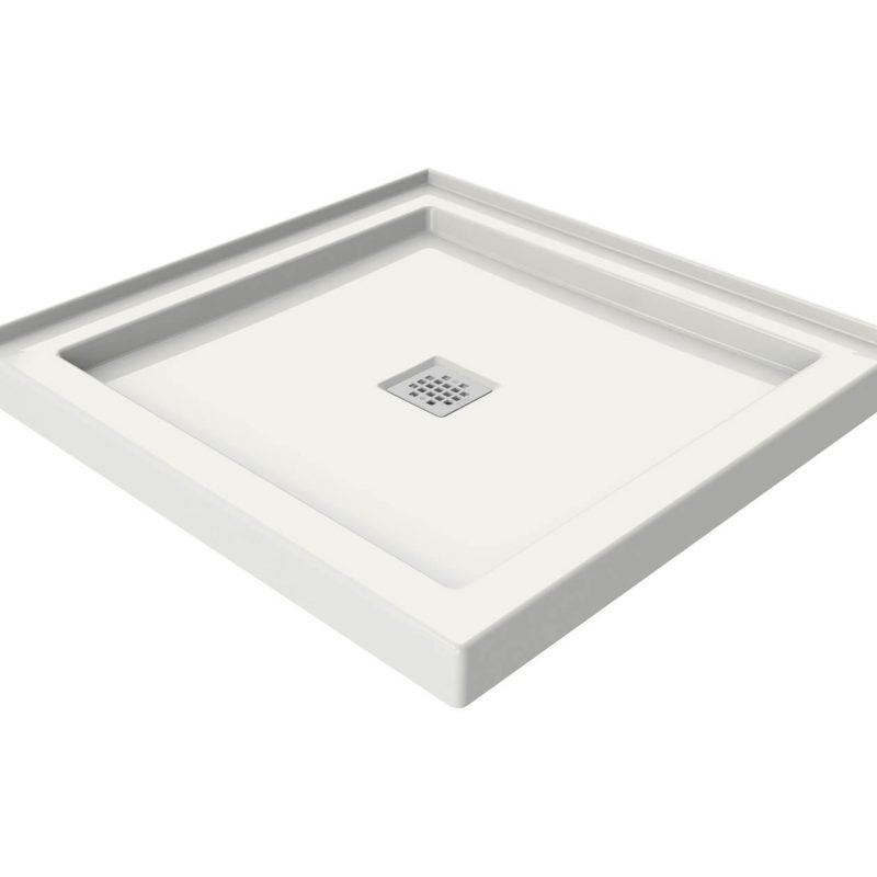 MAAX 420000 - B3 Square 3636 White Acrylic shower base