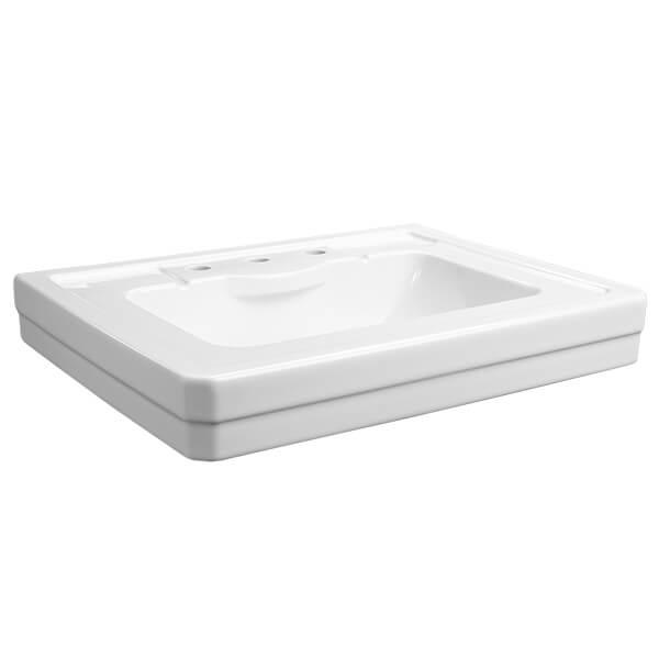 DXV D20015008.415 - Fitzgerald 28 Inch Three Hole Bathroom Sink