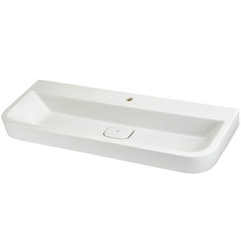 DXV D20077001.415 - Equility 47 Inch Wall-Hung Trough Bathroom Sink- Single Faucet Hole