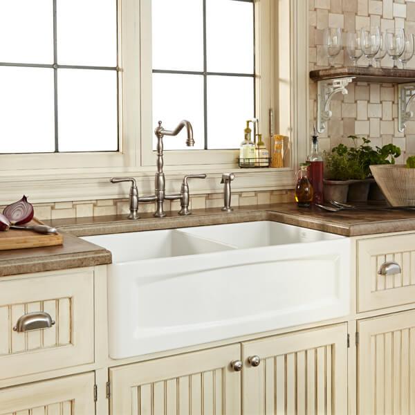 DXV D20103000.415 - Hillside 33 Inch Apron Kitchen Sink