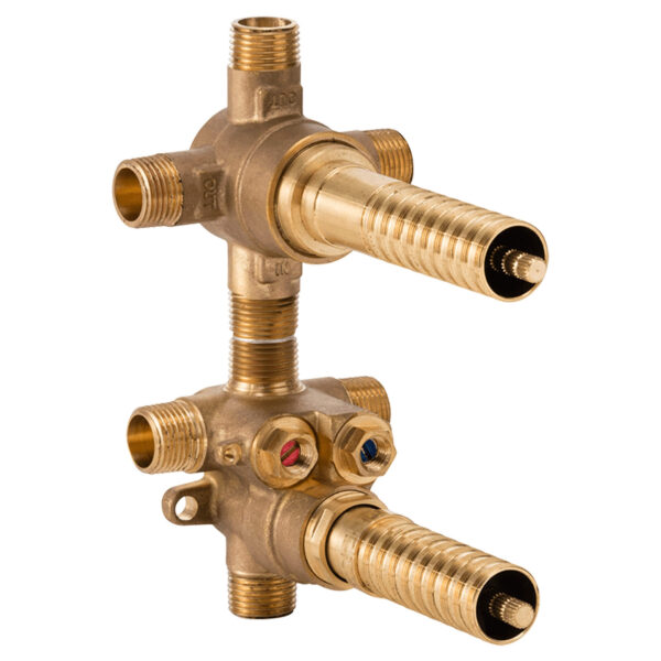 DXV D35005523S.191 - 2-Handle Thermostatic Rough Valve with 3-Way Diverter - Shared Functions