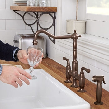 DXV D35402250.110 - Victorian Bridge Kitchen Faucet