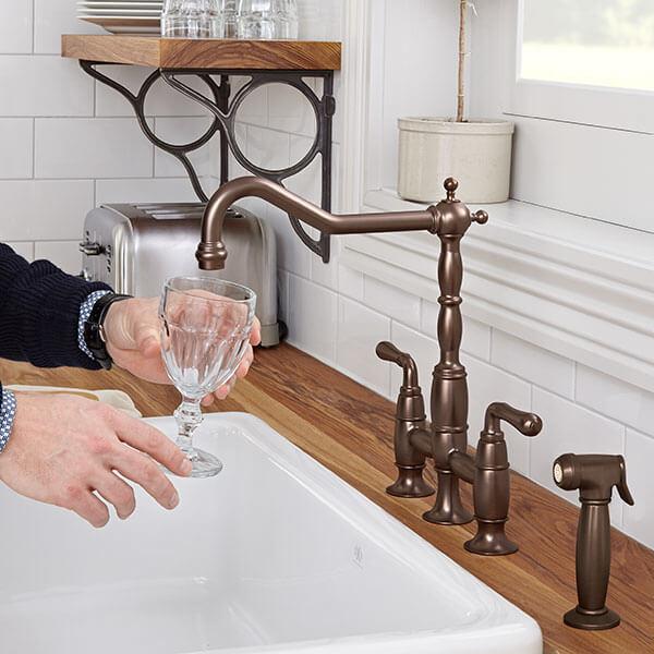 DXV D35402250.110 - Victorian Bridge Kitchen Faucet