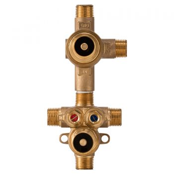 DXV D35005522S.191 - 2-Handle Thermostatic Rough Valve with 2-Way Diverter - Shared Function