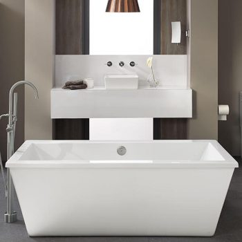 DXV D60545004.415 - Cossu Freestanding Soaking Tub with Deck