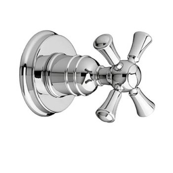 DXV D35102740.100 - Randall 1/2 Inch or 3/4 Inch Wall Valve Trim with Cross Handle