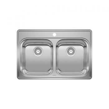 BLANCO 400001 - ESSENTIAL 2 (1 Hole) Drop-in Kitchen Sink