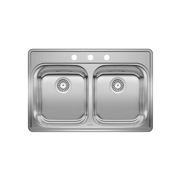 BLANCO 400003 - ESSENTIAL 2 (3 Holes) Drop-in Kitchen Sink