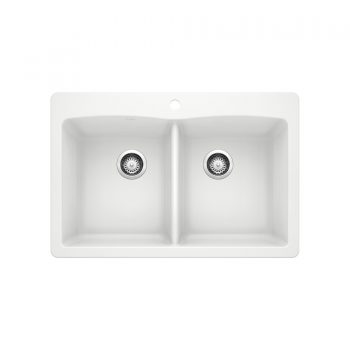 BLANCO 400055 - DIAMOND 210 Double Bowl Drop-in Sink