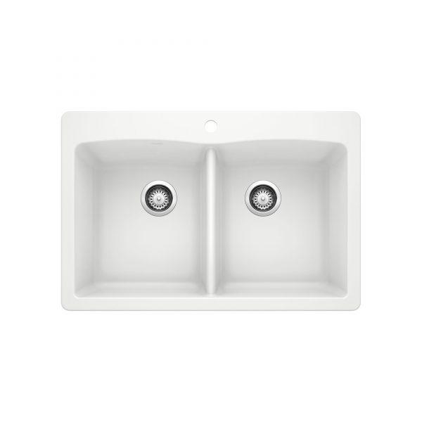 BLANCO 400055 - DIAMOND 210 Double Bowl Drop-in Sink