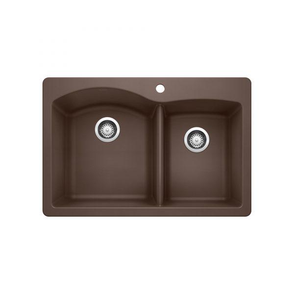BLANCO 400343 - DIAMOND 1¾ Double Bowl Drop-in Sink
