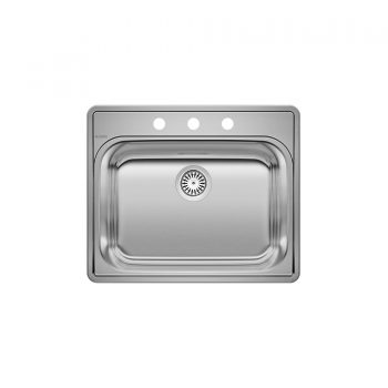 BLANCO 401103 - ESSENTIAL 1 (3 Holes) Drop-in Kitchen Sink