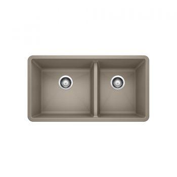 BLANCO 401142 - PRECIS U 1 ¾ Double Bowl Undermount