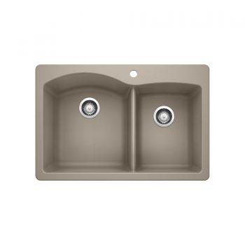 BLANCO 401153 - DIAMOND 1¾ Double Bowl Drop-in Sink