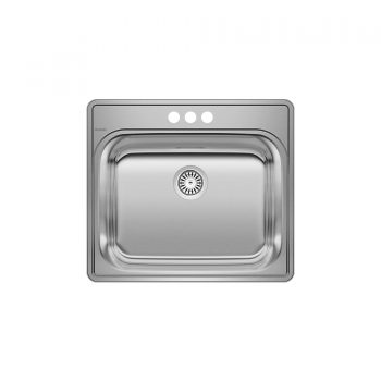 BLANCO 401202 - ESSENTIAL Drop-in Laundry Sink (3 Holes)