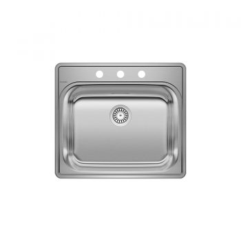 BLANCO 401203 - ESSENTIAL Drop-in Laundry Sink (3 Holes)