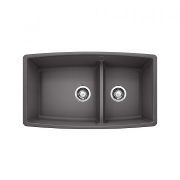 BLANCO 401418 - PERFORMA U 1¾ Low Divide Undermount Sink