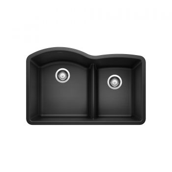 BLANCO 401572 - DIAMOND U 1 ¾ Low Divide Double Bowl Sink