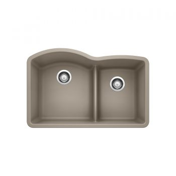 BLANCO 401576 - DIAMOND U 1 ¾ Low Divide Double Bowl Sink