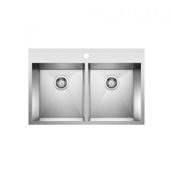 BLANCO 401646 - QUATRUS Drop In 2 Double Bowl Sink
