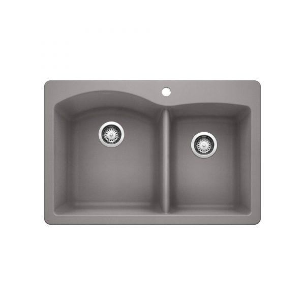 BLANCO 401659 - DIAMOND 1¾ Double Bowl Drop-in