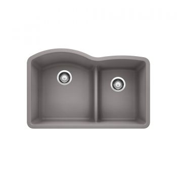 BLANCO 401664 - DIAMOND U 1 ¾ Low Divide Double Bowl Sink