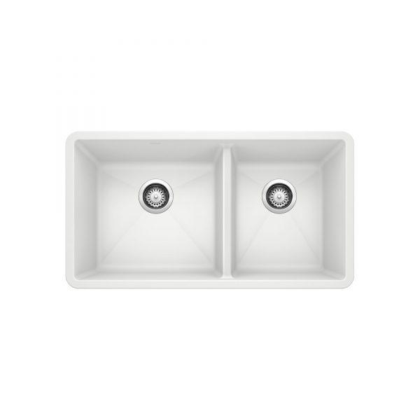 BLANCO 401706 - PRECIS U 1 ¾ Double Bowl Undermount
