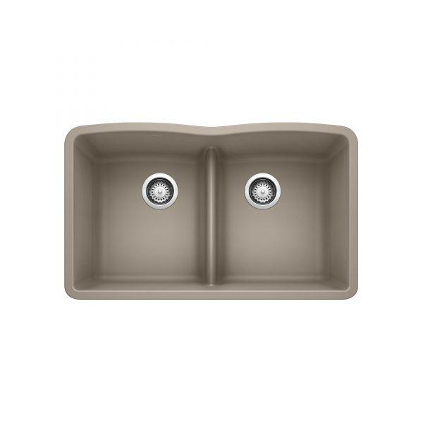 BLANCO 401836 - DIAMOND U 2 Low Divide Undermount Sink