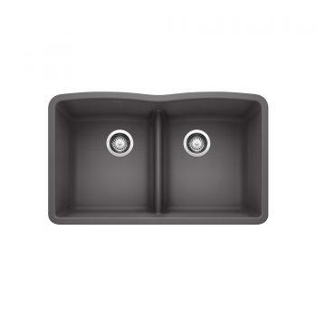 BLANCO 401837 - DIAMOND U 2 Low Divide Undermount Sink