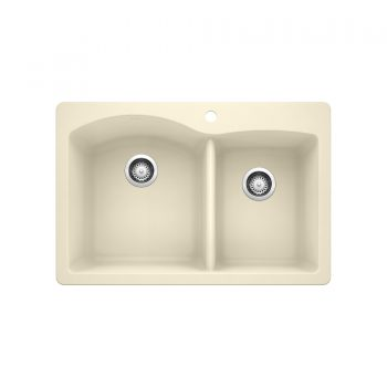 BLANCO 402134 - DIAMOND 1¾ Double Bowl Drop-in Sink