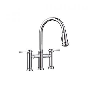 BLANCO 442504 - EMPRESSA Pull-down Dual Handle Bridge Faucet