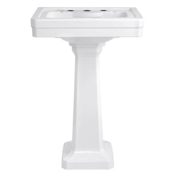DXV D20030008.415 FITZGERALD 24 INCH PEDESTAL BATHROOM SINK- THREE FAUCET HOLES