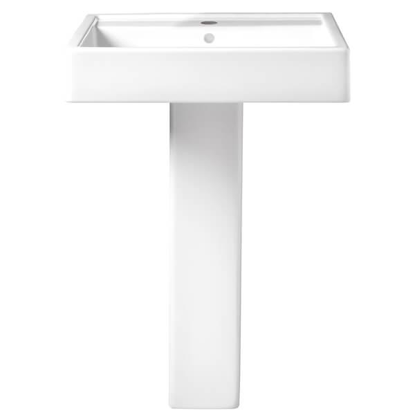 DXV D20095001.415 COSSU 24 INCH PEDESTAL BATHROOM SINK- SINGLE FAUCET HOLE